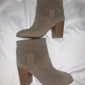 Tan Suede booties Size 6.5